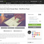 Codecanyon: Responsive Styled Google Maps