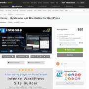 Codecanyon: Intense - Shortcodes and Site Builder for WordPress