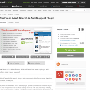 Codecanyon: WordPress AJAX Search & AutoSuggest Plugin