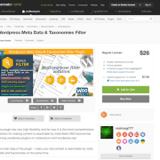 Codecanyon: WordPress Meta Data & Taxonomies Filter