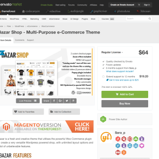 Themeforest: Bazar Shop