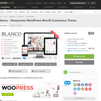 Themeforest: Blanco