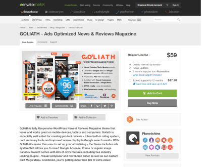 Themeforest: GOLIATH