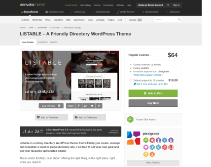 Themeforest: LISTABLE