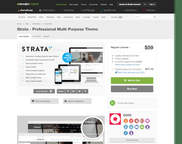 Themeforest: Strata