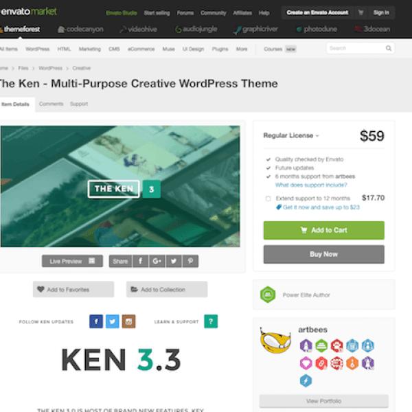Themeforest: The Ken