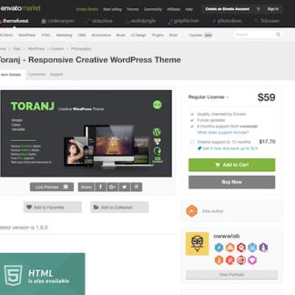Themeforest: Toranj