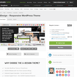 Themeforest: uDesign