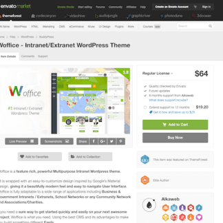 Themeforest: Woffice