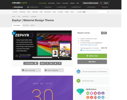 Themeforest: Zephyr