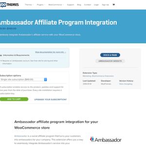 Extensión para WooCommerce: Ambassador Affiliate Program Integration