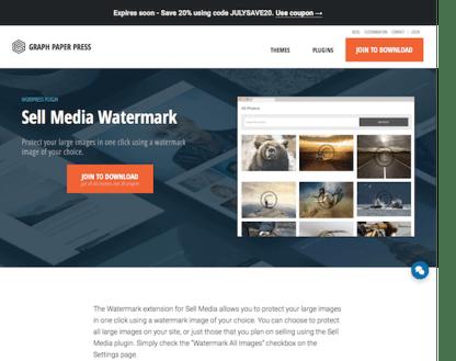 Graph Paper Press: Sell Media Watermark Addon