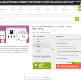 YITH WooCommerce: Color and Label Variations Premium Premium