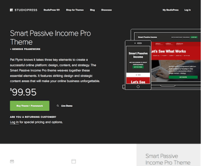 StudioPress: Smart Passive Income Pro Theme