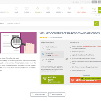 YITH WooCommerce: Barcodes Premium