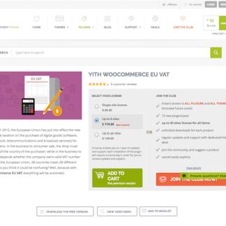 YITH WooCommerce: EU VAT Premium