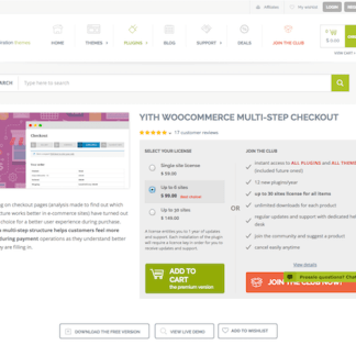 YITH WooCommerce: Multi-step Checkout Premium