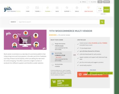 YITH WooCommerce: Multi Vendor Premium