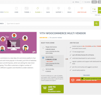 YITH WooCommerce: Multi Vendor Premium