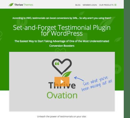 Thrive Themes Plugin: Ovation