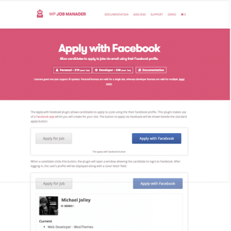 WP Job Manager Add-On: Apply with Facebook