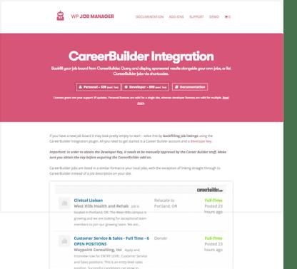 WP Job Manager Add-On: Career Builder Integration