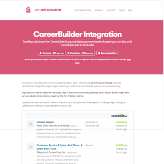 WP Job Manager Add-On: Career Builder Integration