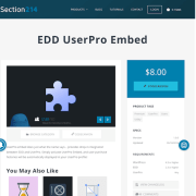 Easy Digital Downloads: UserPro Embed