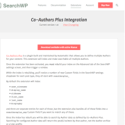 SearchWP: Co-Authors Plus Integration