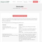 SearchWP: Shortcodes