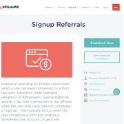 AffiliateWP: Signup Referrals