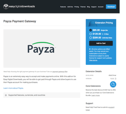 Easy Digital Downloads: Payza Payment Gateway