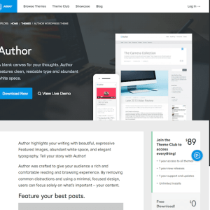 Array Themes: Author WordPress Theme