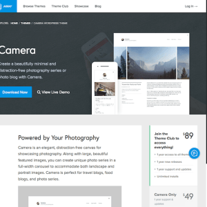 Array Themes: Camera WordPress Theme