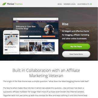 Thrive Themes: Rise WordPress Theme
