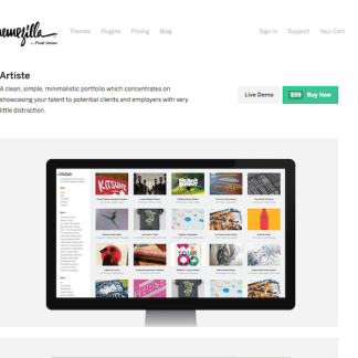 ThemeZilla: Artiste WordPress Theme
