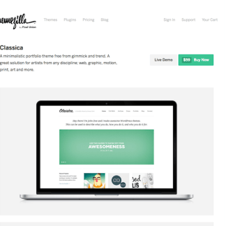 ThemeZilla: Classica WordPress Theme