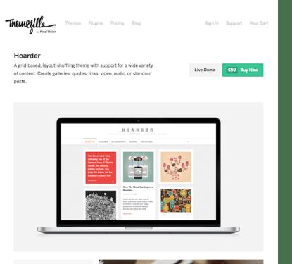 ThemeZilla: Hoarder WordPress Theme