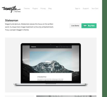 ThemeZilla: Statesman WordPress Theme