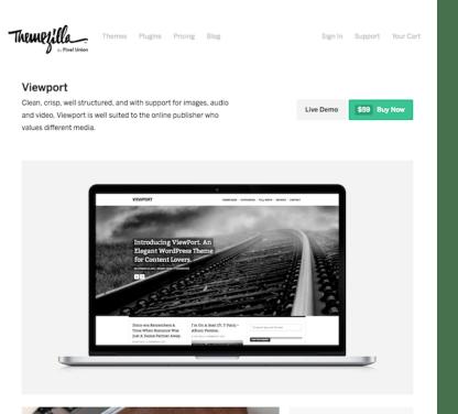 ThemeZilla: Viewport WordPress Theme