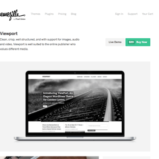 ThemeZilla: Viewport WordPress Theme
