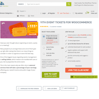 YITH WooCommerce: Event Tickets