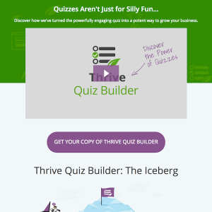 Thrive Themes Plugin: Quiz Builder