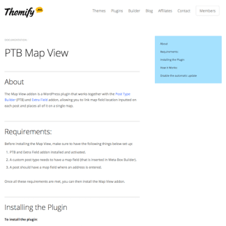 Themify Builder Add-On: Map View