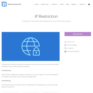 Restric Content Pro: IP Restriction