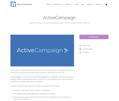 Restric Content Pro: ActiveCampaign