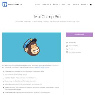 Restric Content Pro: MailChimp Pro