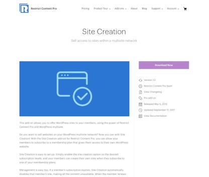 Restric Content Pro: Site Creation