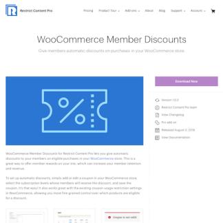 Restric Content Pro: WooCommerce Member Discounts