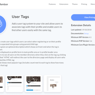 Ultimate Member Extension: User Tags